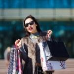 Shopping woman outdoors — Stock Photo #67872959