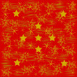 Gold pattern and stars on red — Stock Photo #56937891