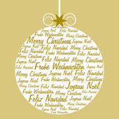 Christmas ball formed and filled with text — Stockvektor