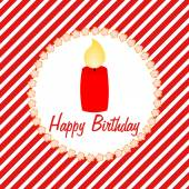 Happy Birthday card with a candle — Stock Photo