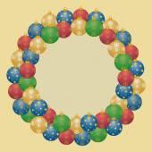 Wreath from christmas balls — Foto de Stock