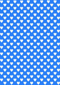 White hearts on blue — Vector de stock