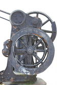 Cast-iron handwheel with gearwheel — Стоковое фото