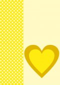 One yellow heart and many small white ones — ストック写真