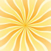 Yellow orange sun rays swirl on square format — Stock Photo