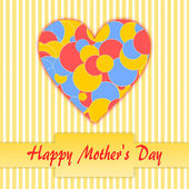 Happy Mother's Day with Bokeh heart — Stock Photo