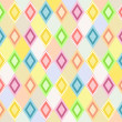 Colorful diamonds and diamonds filled with different pattern — Stock Photo #65800087