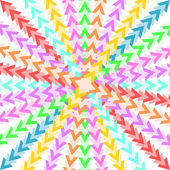 Colorful triangles forming a star-shaped pattern — Stock Vector