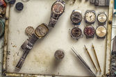 Repair of mechanical watches — Stock Photo