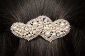 Barrette in the hair — Stock Photo