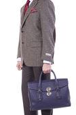 Muž s kabelky v ruce — Stock fotografie