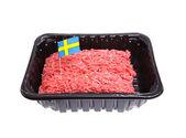 Švédský mleté hovězí maso — Stock fotografie
