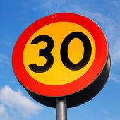Speed limit 30 kmh — Stock Photo