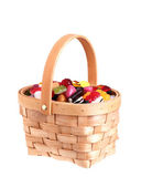 Basket filled with candy — Stock Photo
