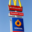 Постер, плакат: McDonalds and Statoil co location