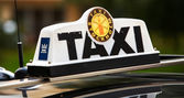 Taxi plate — Stock Photo