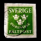 Stamped stamp Sweden Field Post reply notice — Foto Stock
