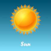 Vector shining sun — Vettoriale Stock