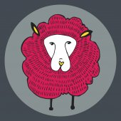 Vector Graphics, Illustration sheep — Stock Vector