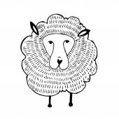 Vector Graphics, Illustration sheep — Stock vektor