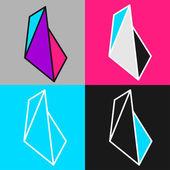 Vector crystals — Stock Vector