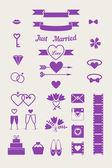 Vector wedding seamless pattern — Stock Vector