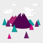 Vector landscape mountains — Stock Vector