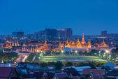 Wat Phra Kaew view at night — Stock Photo