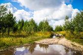 Dirt roads in Russia — Stock Photo