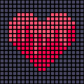 Heart from geometrical pattern — Stock Vector
