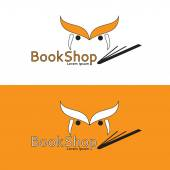 Logo for bookstore — Stock Vector
