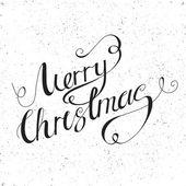 Kaligrafické písmo Veselé Vánoce — Stock vektor