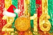 新的一年到 2016 年。圣诞节。节日的生动多彩星星背景 — 图库照片