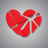 Breaking heart — Stock Vector