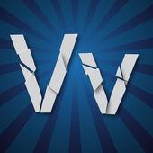 A vector letters set of a broken alphabet — Stock Vector
