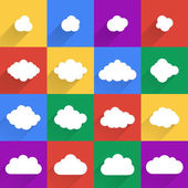 Flat design cloudscapes collection.  — Stock Vector