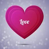 Heart applique background. Vector illustration for your design. — Stock Vector