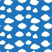 Flat design cloudscapes seamless pattern — Stock Vector