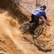 Mountainbiker Desert Bike Downhill Sand — Stock Photo #57755873