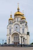 Russian Orhodox Cathedral in Khabarovsk, Russia — Stock Photo