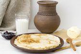 Pancakes on Shrove Tuesday — Stock Photo