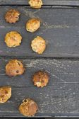Muffins with raisins — Stock Photo