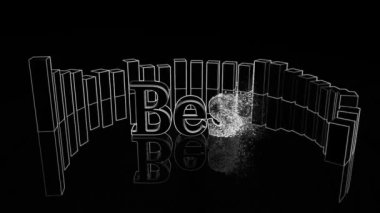 Best music logo effect presentation — Stock Video