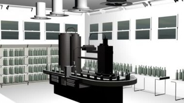Bottle filling equipment and capping system — Vídeo de Stock