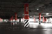 Night parking lot — Stock Photo