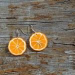 Earrings oranges — Stock Photo #70893769