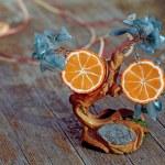 Earrings on the tree handmade — Stock Photo #70895189