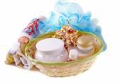 Bathing accessories — Stock Photo