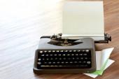 Schreibmasschine High Key corner — Stock Photo