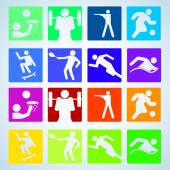 Sport set. Players of different sports. Vector illustration. — Vector de stock